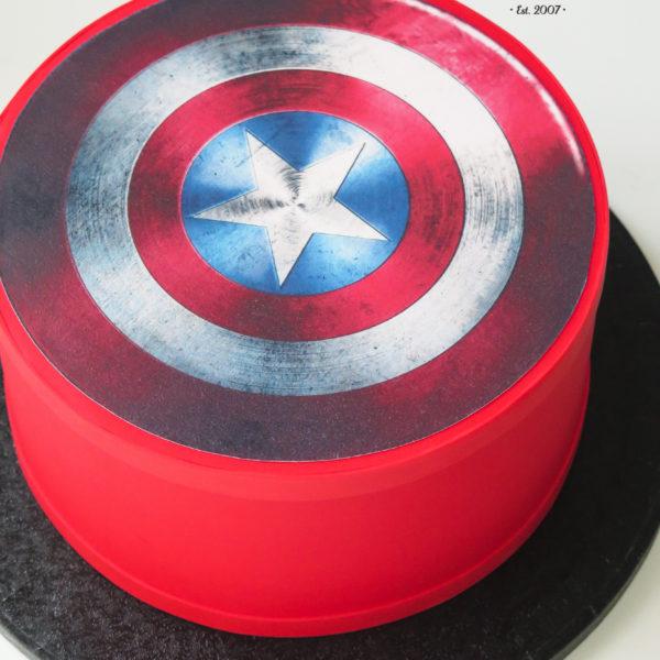 U472 - tort urodzinowy, na urodziny, dla dzieci, artystyczny, kapitan ameryka, avengers, dla faceta, męski, tort z dostawą, transportem warszawa, piaseczno, konstancin jeziorna, góra kalwaria, polska