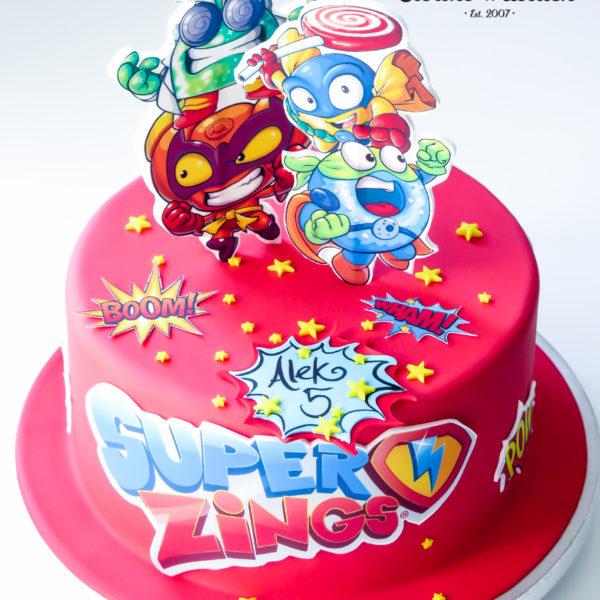 U474 - tort urodzinowy, na urodziny, dla dzieci, artystyczny, super zings, tort z dostawą, transportem warszawa, piaseczno, konstancin jeziorna, góra kalwaria, polska