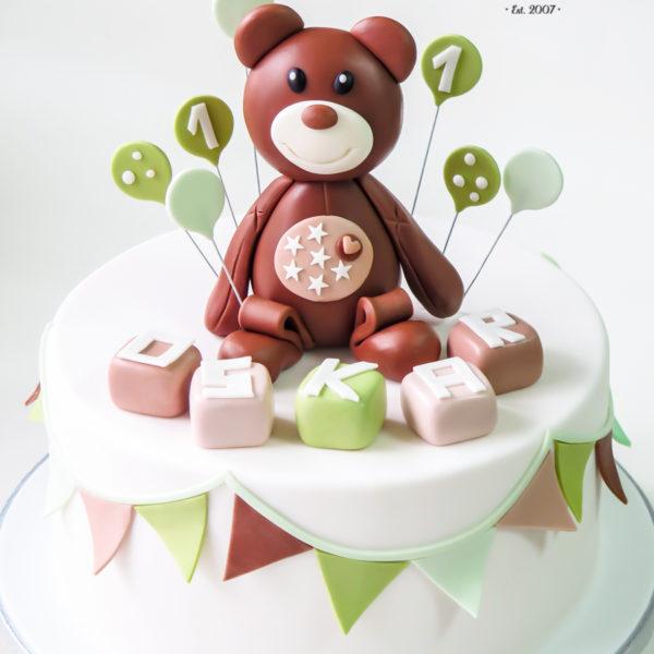U479 - tort urodzinowy, na urodziny, dla dzieci, artystyczny, miś, na roczek, 1 urodziny, tort z dostawą, transportem warszawa, piaseczno, konstancin jeziorna, góra kalwaria, polska