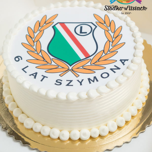 U483 - tort urodzinowy, na urodziny, klasyczny, legia, tort z dostawą, transportem warszawa, piaseczno, konstancin jeziorna, góra kalwaria, polska
