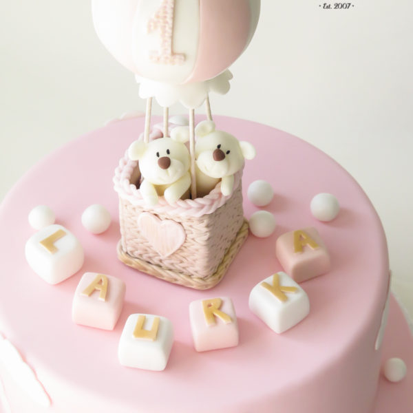 U486 - tort urodzinowy, na urodziny, dla dzieci, artystyczny, miś, balon, na roczek, 1 urodziny, tort z dostawą, transportem warszawa, piaseczno, konstancin jeziorna, góra kalwaria, polska