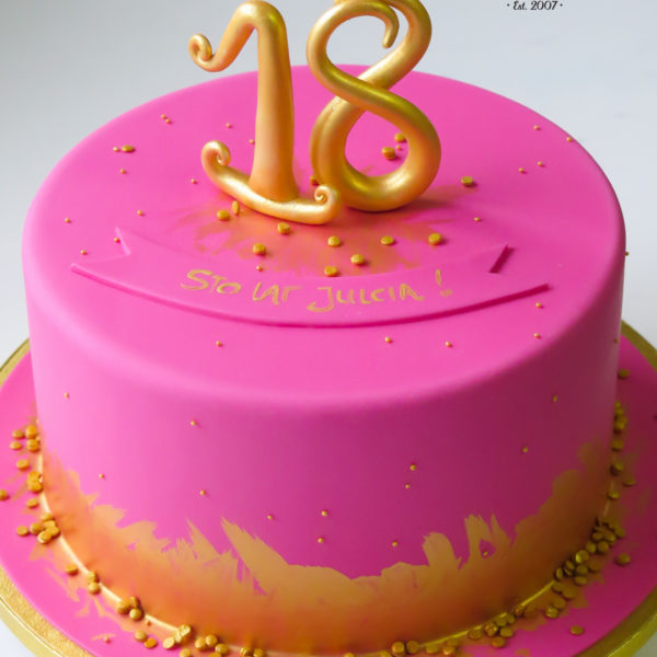 U490 - tort urodzinowy, na urodziny, dla dzieci, artystyczny, 18, złocony, tort z dostawą, transportem warszawa, piaseczno, konstancin jeziorna, góra kalwaria, polska