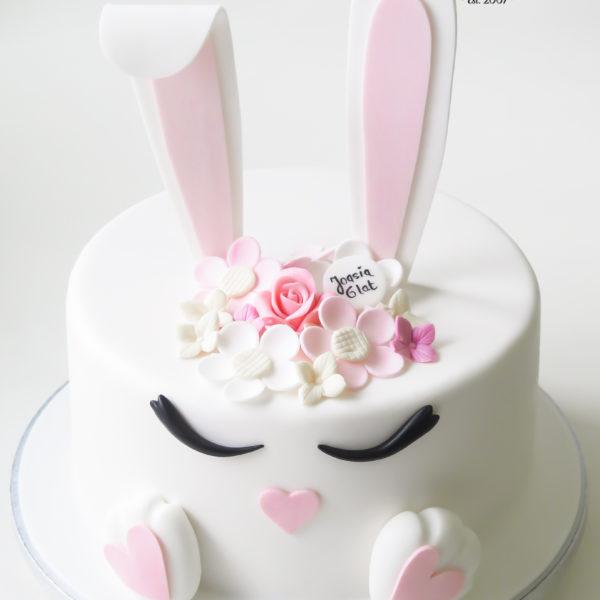 U491 - tort urodzinowy, na urodziny, dla dzieci, artystyczny, królik, tort z dostawą, transportem warszawa, piaseczno, konstancin jeziorna, góra kalwaria, polska