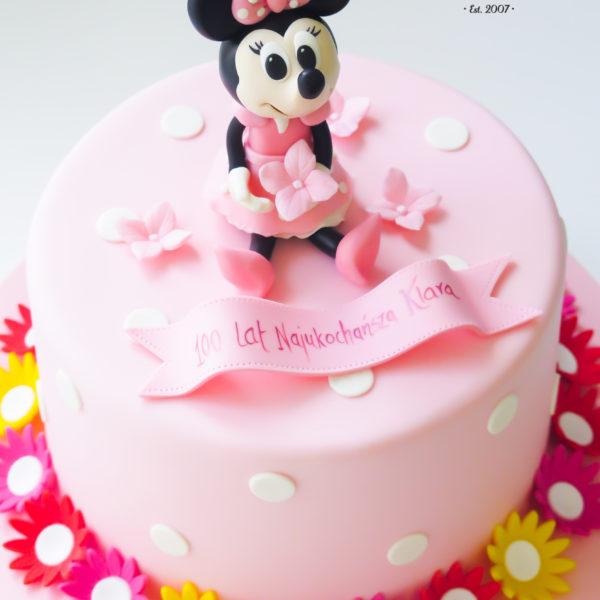 U496 - tort urodzinowy, na urodziny, dla dzieci, artystyczny, myszka, mini, minnie, tort z dostawą, transportem warszawa, piaseczno, konstancin jeziorna, góra kalwaria, polska