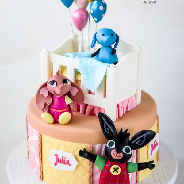 U498 - tort urodzinowy, na urodziny, dla dzieci, artystyczny, bing, 1, na roczek, tort z dostawą, transportem warszawa, piaseczno, konstancin jeziorna, góra kalwaria, polska