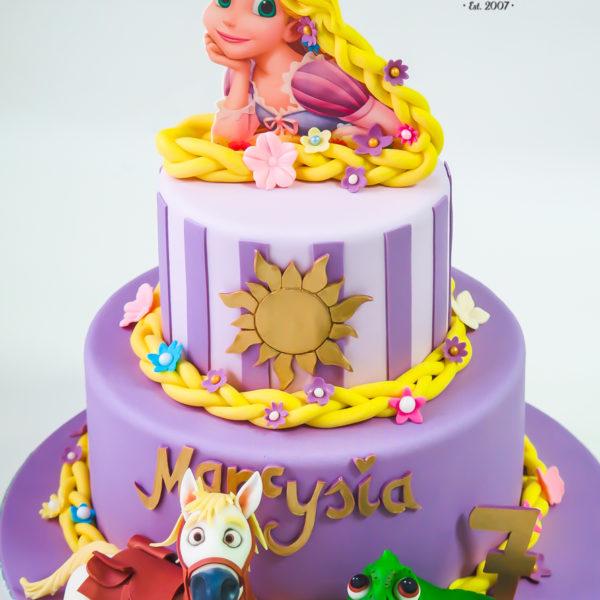 U500 - tort urodzinowy, na urodziny, dla dzieci, artystyczny, zaplątani, roszpunka, tort z dostawą, transportem warszawa, piaseczno, konstancin jeziorna, góra kalwaria, polska