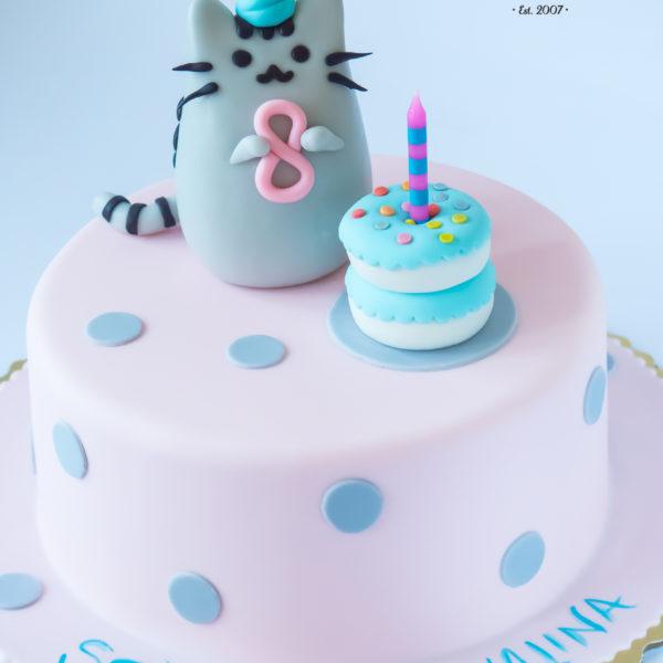 U502 - tort urodzinowy, na urodziny, dla dzieci, artystyczny, zwierzątka, kot, pusheen, tort z dostawą, transportem warszawa, piaseczno, konstancin jeziorna, góra kalwaria, polska