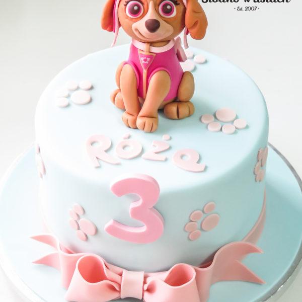 U503 - tort urodzinowy, na urodziny, dla dzieci, artystyczny, pieski, psi patrol, tort z dostawą, transportem warszawa, piaseczno, konstancin jeziorna, góra kalwaria, polska
