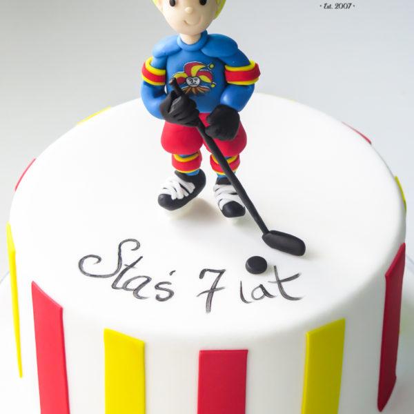 U508 - tort urodzinowy, na urodziny, dla dzieci, artystyczny, hokeista, tort z dostawą, transportem warszawa, piaseczno, konstancin jeziorna, góra kalwaria, polska