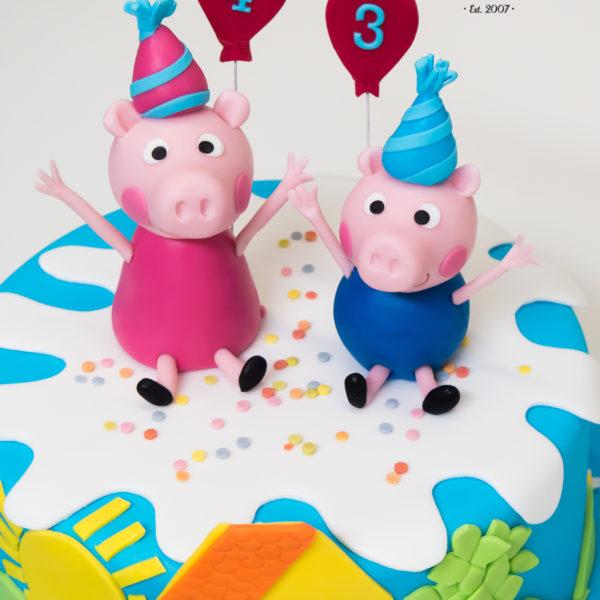 U510 - tort urodzinowy, na urodziny, dla dzieci, artystyczny, świnka peppa, tort z dostawą, transportem warszawa, piaseczno, konstancin jeziorna, góra kalwaria, polska