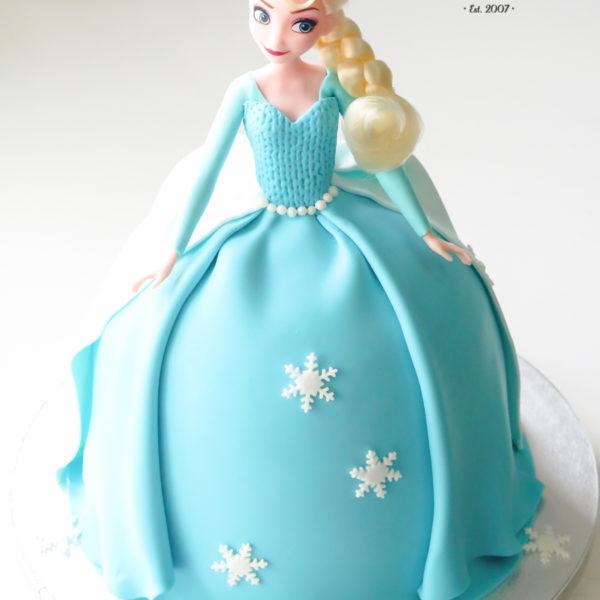 U513 - tort urodzinowy, na urodziny, dla dzieci, artystyczny, lalka, elsa, kraina lodu, frozen,, w kształcie, tort z dostawą, transportem warszawa, piaseczno, konstancin jeziorna, góra kalwaria, polska