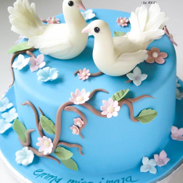 U515 - tort urodzinowy, na urodziny, dla dzieci, artystyczny, zwierzątka, gołąbki, tort z dostawą, transportem warszawa, piaseczno, konstancin jeziorna, góra kalwaria, polska