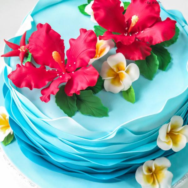 U517 - tort urodzinowy, na urodziny, artystyczny, z kwiatami, kwiaty, kobiecy, tort z dostawą, transportem warszawa, piaseczno, konstancin jeziorna, góra kalwaria, polska