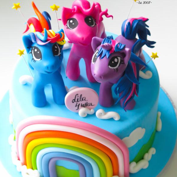 U519 - tort urodzinowy, na urodziny, dla dzieci, artystyczny, koniki, pony, tort z dostawą, transportem warszawa, piaseczno, konstancin jeziorna, góra kalwaria, polska