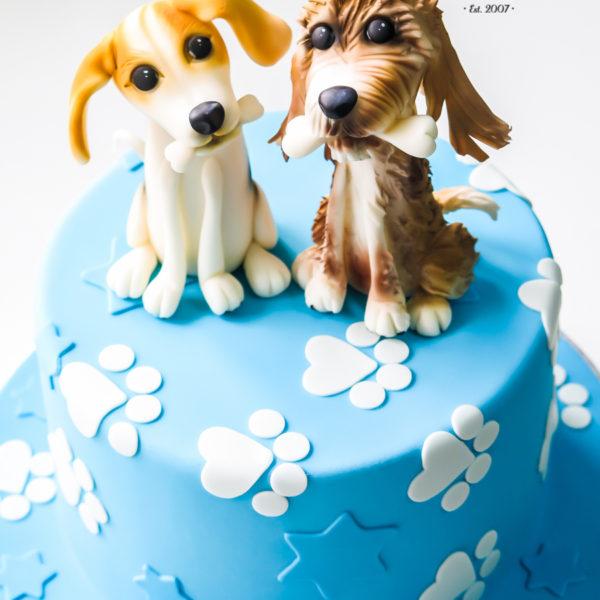 U523 - tort urodzinowy, na urodziny, dla dzieci, artystyczny, pieski, psiaki, tort z dostawą, transportem warszawa, piaseczno, konstancin jeziorna, góra kalwaria, polska