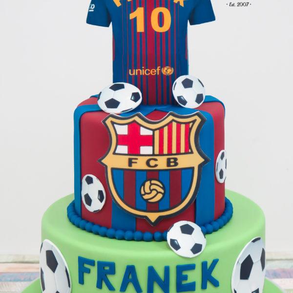U528 - tort urodzinowy, na urodziny, fc barcelona, piłkarski, tort z dostawą, transportem warszawa, piaseczno, konstancin jeziorna, góra kalwaria, polska