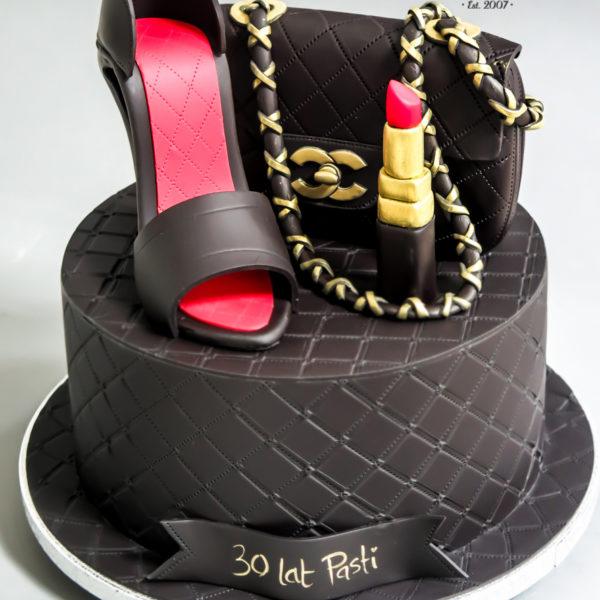 U532 - tort urodzinowy, na urodziny, artystyczny, babski, kobiecy, elegancki, dla pań, torebka, szpilka, tort z dostawą, transportem warszawa, piaseczno, konstancin jeziorna, góra kalwaria, polska