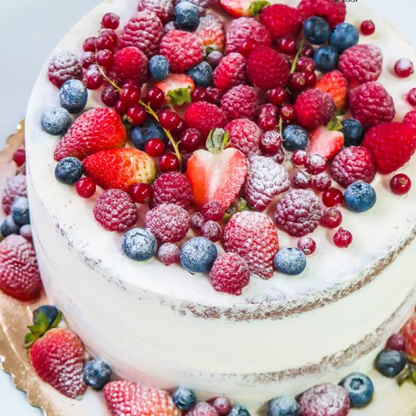 K67 - tort, semi naked, cake, bez masy cukrowej, w kremie, z owocami, urodzinowy, z dostawą, tort z transportem warszawa, piaseczno, konstancin jeziorna, góra kalwaria, wilanów