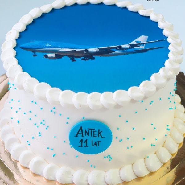 K96 - tort, w kremie, klasyczny, z samolotem, ze zdjęciem, z wydrukiem, warszawa, z dostawą, urodzinowy, bez masy cukrowej, tort z transportem warszawa, wilanów,konstancin jeziorna