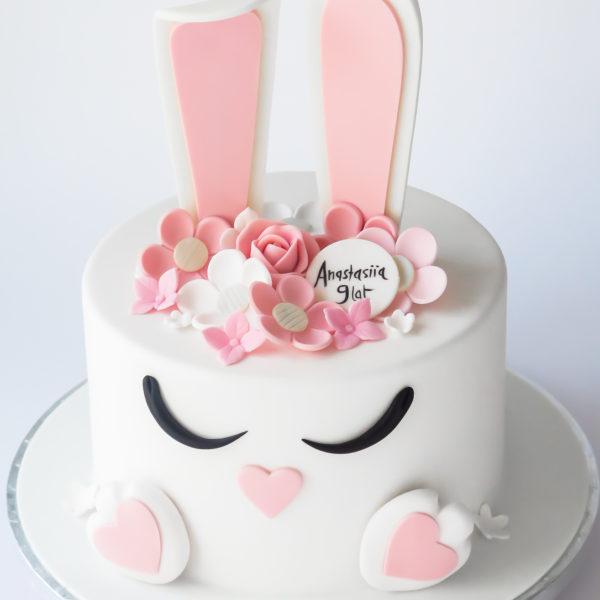 LM48 - tort urodzinowy, na urodziny, dla dzieci, artystyczny, last minute, królik, na ostatnią chwilę, warszawa, konstancin jeziorna, piaseczno