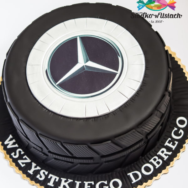 U536 - tort urodzinowy, na urodziny, dla mężczyzny, męski, artystyczny, auto, opona, tort z dostawą, transportem warszawa, piaseczno, konstancin jeziorna, góra kalwaria, polska