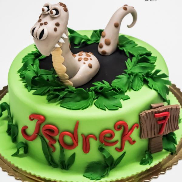 U538 - tort urodzinowy, na urodziny, dla dzieci, artystyczny, dinozaur, smok, tort z dostawą, transportem warszawa, piaseczno, konstancin jeziorna, góra kalwaria, polska