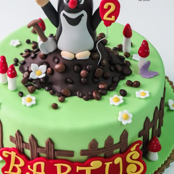 U540 - tort urodzinowy, na urodziny, dla dzieci, artystyczny, krecik, tort z dostawą, transportem warszawa, piaseczno, konstancin jeziorna, góra kalwaria, polska