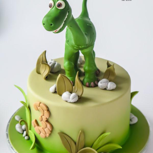 U543 - tort urodzinowy, na urodziny, dla dzieci, artystyczny, dobry, dinozaur, tort z dostawą, transportem warszawa, piaseczno, konstancin jeziorna, góra kalwaria, polska