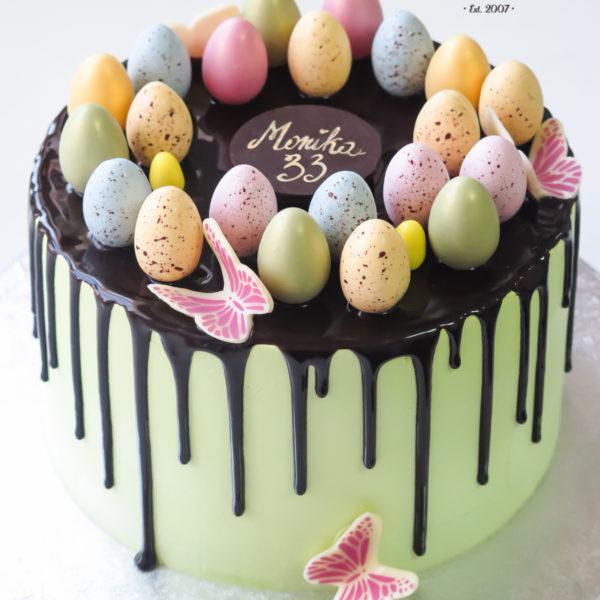 U544 - tort urodzinowy, na urodziny, artystyczny, kobiecy, elegancki, wielkanocny, drip cake, w kremie, bez masy cukrowej, z dostawą, transportem, warszawa, piaseczno, konstancin jeziorna, góra kalwaria, polska