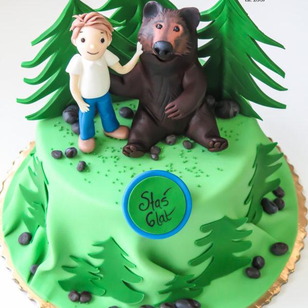 U545 - tort urodzinowy, na urodziny, dla dzieci, artystyczny, miś, niedźwiedź, tort z dostawą, transportem warszawa, piaseczno, konstancin jeziorna, góra kalwaria, polska