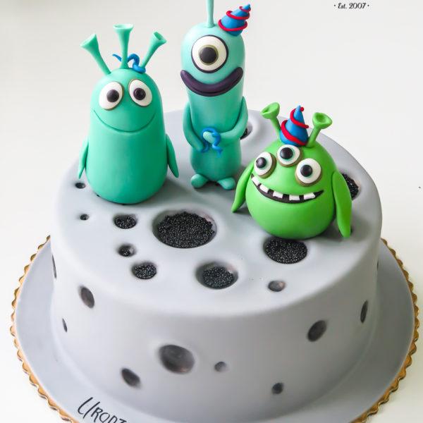 U550 - tort urodzinowy, na urodziny, dla dzieci, artystyczny, luis i obcy, tort z dostawą, transportem warszawa, piaseczno, konstancin jeziorna, góra kalwaria, polska