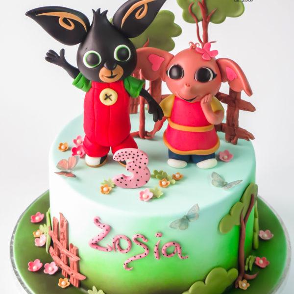 U551 - tort urodzinowy, na urodziny, dla dzieci, artystyczny, króliczek, bing i sula, tort z dostawą, transportem warszawa, piaseczno, konstancin jeziorna, góra kalwaria, polska