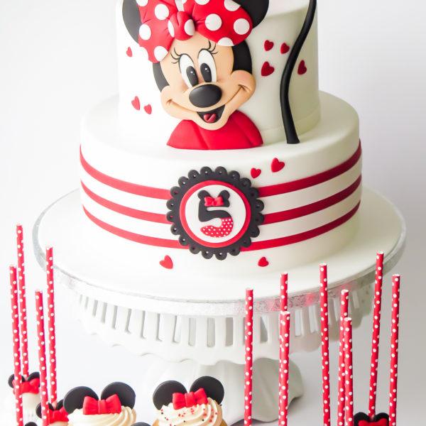 U562 - tort urodzinowy, na urodziny, dla dzieci, artystyczny, myszka minnie, tort z dostawą, transportem warszawa, piaseczno, konstancin jeziorna, góra kalwaria, polska