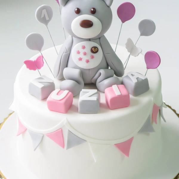 U564 - tort urodzinowy, na urodziny, dla dzieci, artystyczny, miś, misio, na roczek, tort z dostawą, transportem warszawa, piaseczno, konstancin jeziorna, góra kalwaria, polska
