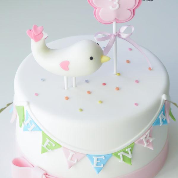 U573 - tort urodzinowy, na urodziny, dla dzieci, artystyczny, ptaszek, na roczek, tort z dostawą, transportem warszawa, piaseczno, konstancin jeziorna, góra kalwaria, polska