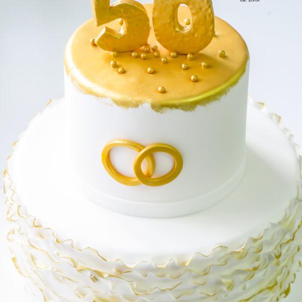 U574 - tort rocznicowy, na rocznicę, urodzinowy, artystyczny, złocony, z obrączkami, z dostawą, dowozem, konstancin jeziorna, warszawa, piaseczno