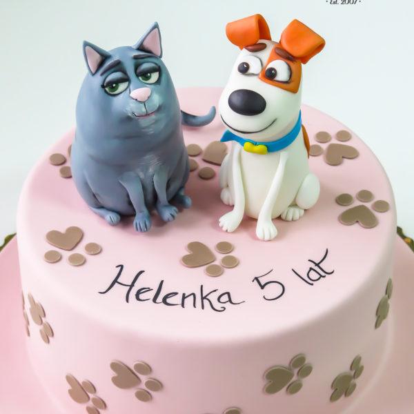 U576 - tort urodzinowy, na urodziny, dla dzieci, artystyczny, sekretne życie zwierzaków domowych, tort z dostawą, transportem warszawa, piaseczno, konstancin jeziorna, góra kalwaria, polska
