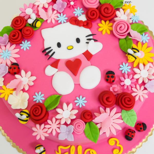 U580 - tort urodzinowy, na urodziny, dla dzieci, artystyczny, z kotkie, hello kitty, tort z dostawą, transportem warszawa, piaseczno, konstancin jeziorna, góra kalwaria, polska