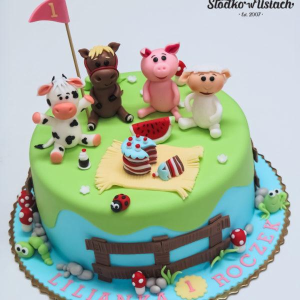 U591 - tort urodzinowy, na urodziny, dla dzieci, artystyczny, zwierzątka domowe, na roczek, pierwsze urodzinki, tort z dostawą, transportem warszawa, piaseczno, konstancin jeziorna, góra kalwaria, polska