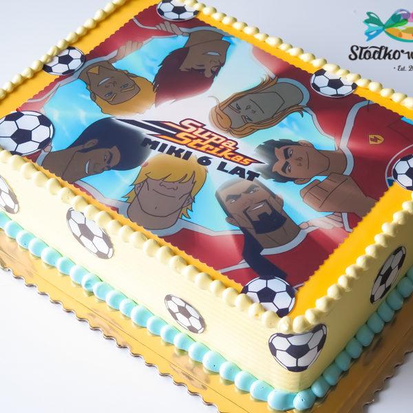 U597 - tort urodzinowy, na urodziny, dla dzieci, supa strikas, piłkarski, bez masy cukrowej, w kremie, tort z dostawą, transportem warszawa, piaseczno, konstancin jeziorna, góra kalwaria, polska