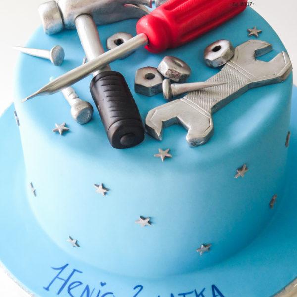 U615 - tort urodzinowy, na urodziny, dla mężczyzny, męski, artystyczny, narzędzia, majsterkowanie, majsterkowicz, klucze, młotek, tort, cukiernia, pracownia tortów, z dostawą, transportem warszawa, piaseczno, konstancin jeziorna, góra kalwaria, polska