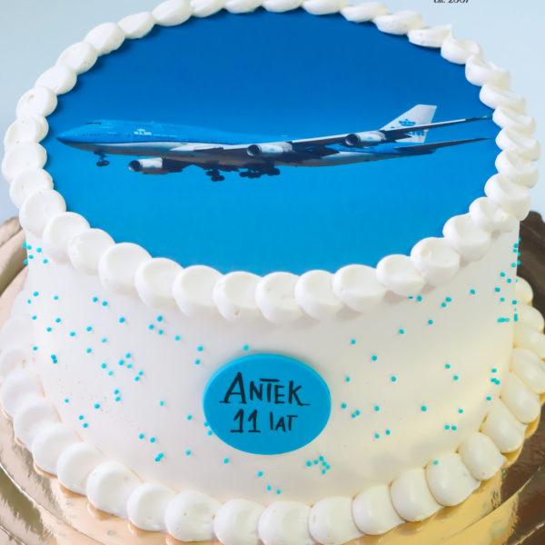 U619 - tort urodzinowy, na urodziny, dla dzieci, samolot, bez masy cukrowej, w kremie, tort z dostawą, transportem warszawa, piaseczno, konstancin jeziorna, góra kalwaria, polska