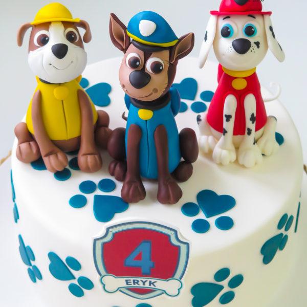 U621 - tort urodzinowy, na urodziny, dla dzieci, artystyczny, psi patrol, pieski, tort, cukiernia, pracownia cukiernicza, z dostawą, transportem warszawa, piaseczno, konstancin jeziorna, góra kalwaria, polska