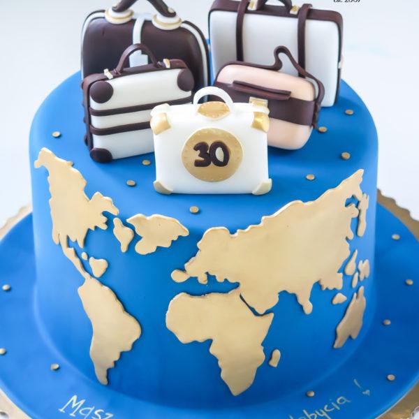 U625 - tort urodzinowy, na urodziny, artystyczny, ziemia, podróże, dla podróżnika, travel, tort z dostawą, transportem warszawa, piaseczno, konstancin jeziorna, góra kalwaria, polska