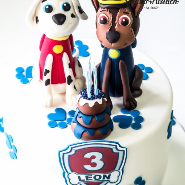 U626 - tort urodzinowy, na urodziny, dla dzieci, artystyczny, psi patrol, pieski, tort, cukiernia, pracownia cukiernicza, z dostawą, transportem warszawa, piaseczno, konstancin jeziorna, góra kalwaria, polska