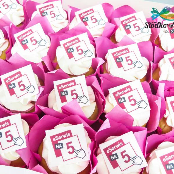 F225 - muffiny firmowe, cupcakes, babeczki firmowe, dla firm, słodycze firmowe, reklamowe, personalizowane, z logo, warszawa, z dostawą, polska