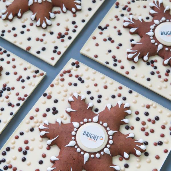 F227 - czekolada ręcznie wylewana , dla firm, z piernikiem , słodycze firmowe, reklamowe , personalizowane, boże narodzenie, świąteczne, prezenty, z logo, warszawa, piaseczno. konstancin jeziorna, polska, europa