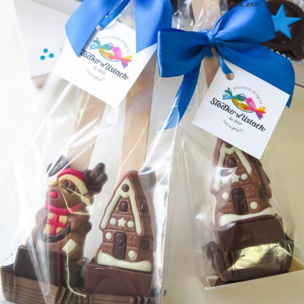 SW148 - czekoladowe łyżeczki, do mleka, łyżeczki z czekoladą, dla firm, słodycze firmowe, reklamowe, personalizowane, świąteczne, prezenty, boże narodzenie, z dostawą, warszawa, piaseczno, konstancin jeziorna, polska, europa