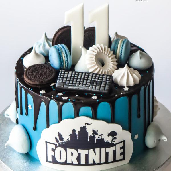 K100 - tort, fortnite, drip, oblewany, bez masy cukrowej, w kremie, urodzinowy, z dostawą, tort z transportem, dowozem, cukiernia, warszawa, piaseczno, konstancin jeziorna, góra kalwaria, wilanów, otwock