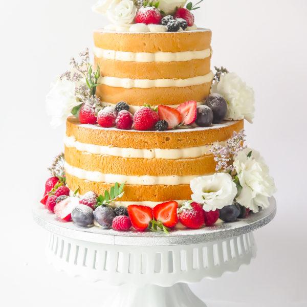 KCH89 - tort na komunię, komunijny ,chrzciny ,chrzest, wyjątkowy, pyszny, piętrowy, z owocami, kwiatami, naked, cukiernia, pracownia cukiernicza, z dostawą, transportem warszawa, piaseczno, konstancin jeziorna, góra kalwaria, polska